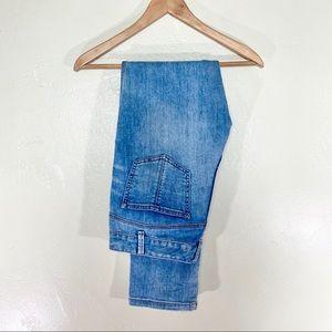 Free people light wash straight leg jeans size 30